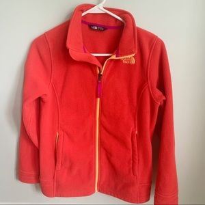 The North Face Fleece Jacket Girls Salmon Color